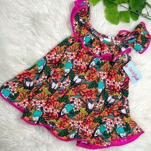 NEW Cat & Jack Tropical Floral Dress